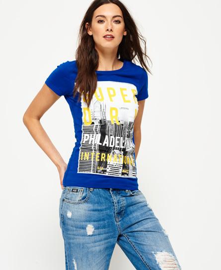 Philadelphia T-Shirt mit großem Fotoprint