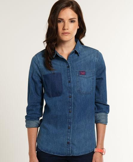 Superdry Loom Denim Shirt - Women's Shirts