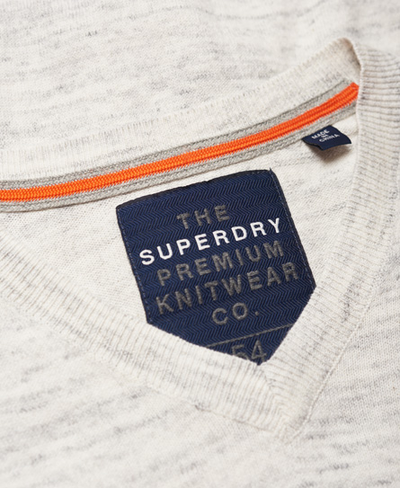 Superdry Orange Label Vee Knit Jumper