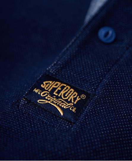 Superdry Heritage Pique Long Sleeve Grandad Top