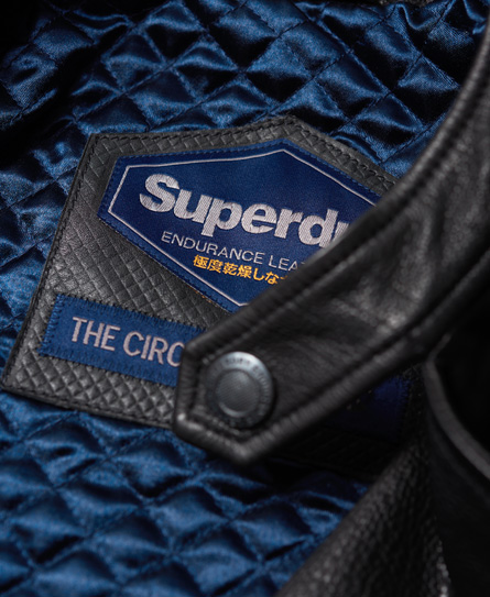 Superdry SD Endurance Super Circuit Racer-lærjakke