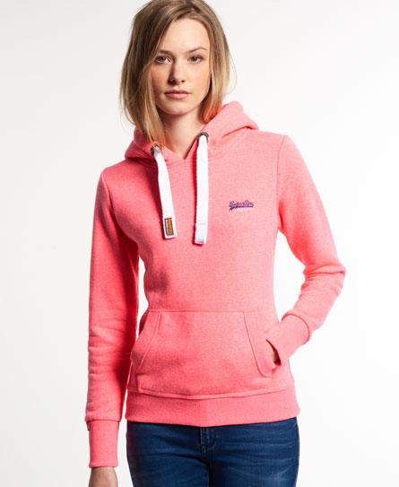 Superdry Womens Orange Label Primary Ziphood Neon Pink Snowy Marl