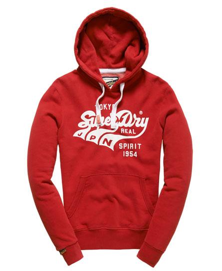 Superdry Triple Swoosh Hoodie Red