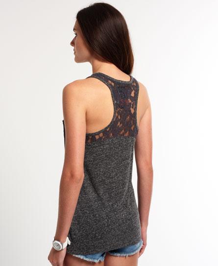Superdry Super Sewn Rugged Lace Pocket Vest Top