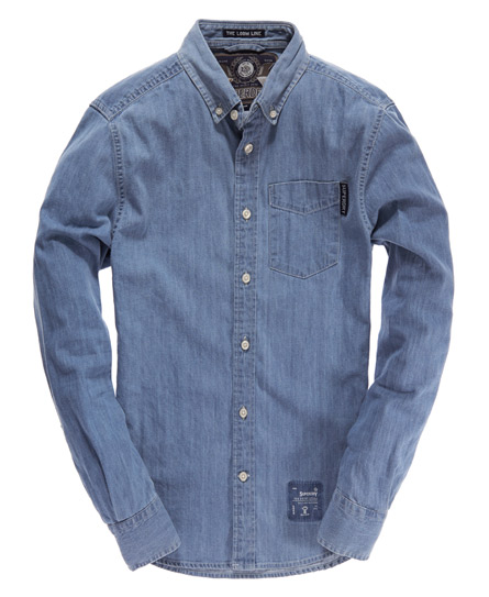 Superdry New York Loom Shirt Blue