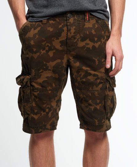 green leopard camo Superdry Core Cargo Lite shorts