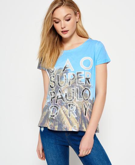 Se Superdry Superdry Cabana Boyfriend T-shirt ved SuperDry