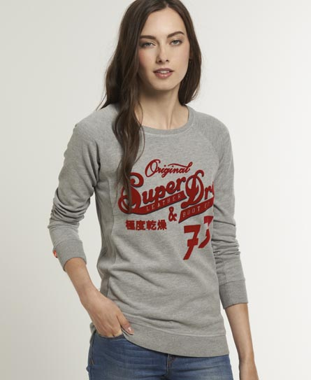 Superdry Original 77 Crew Grey