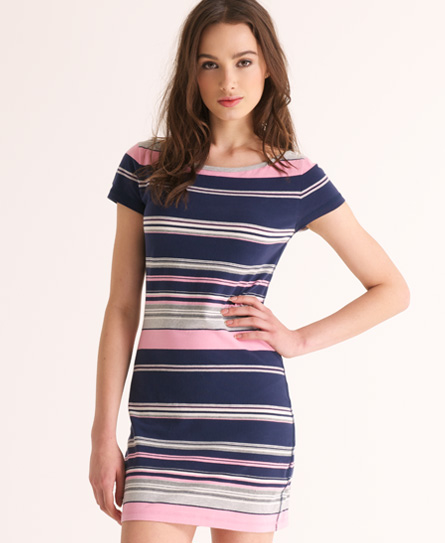 Superdry Super Boating Mini Dress Navy