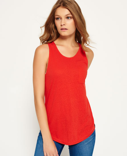 savannah red Superdry Neppy Tanktop aus Viskose