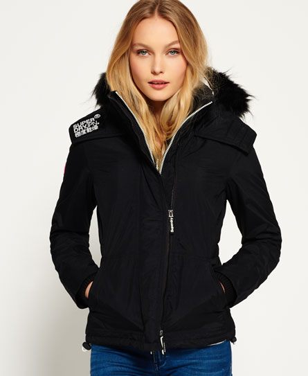 negro/crudo Superdry Chaqueta con capucha y pelo sherpa SD-Wind Attacker