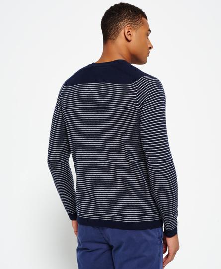 Superdry Static Breton Stripe Crew Neck Sweater