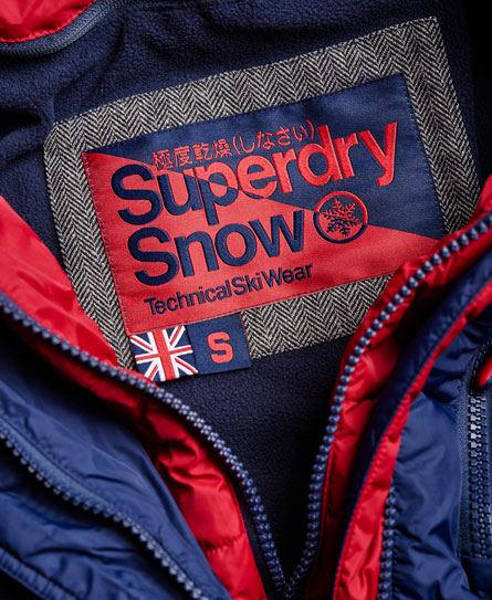 Dark element hooded parka jacket superdry