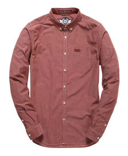 Superdry London Button Down Shirt Red