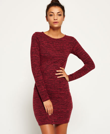 rocky red Superdry Augusta Bodycon-Kleid
