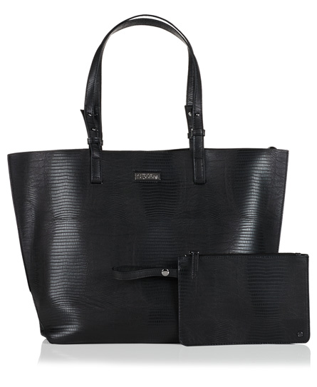 black Superdry Olivia Tote Bag
