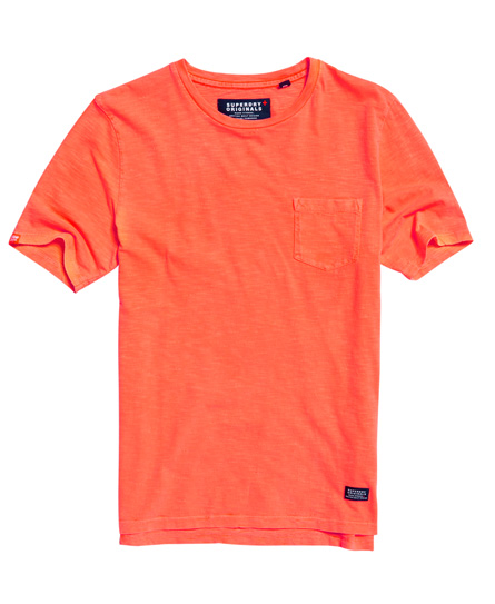 dry firecracker orange Superdry Originals Pocket T-shirt