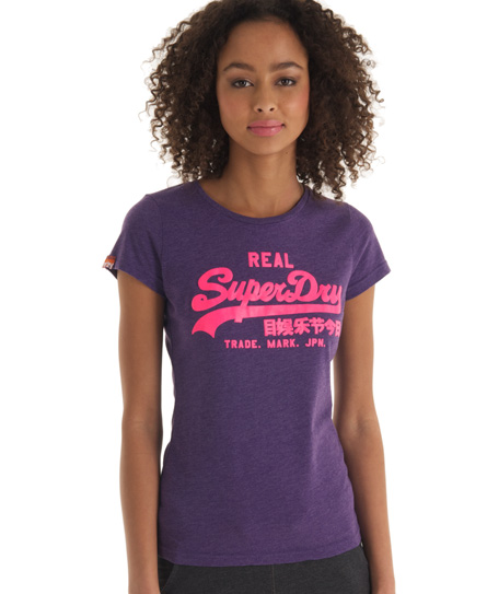 Superdry Vintage T-shirt Purple