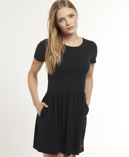 Superdry Skater Dress Black