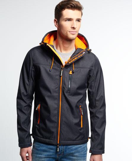 Superdry Windtrekker Jacket Dark Grey Marl/Fluro Orange