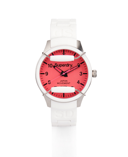 Superdry Scuba Solar Watch White
