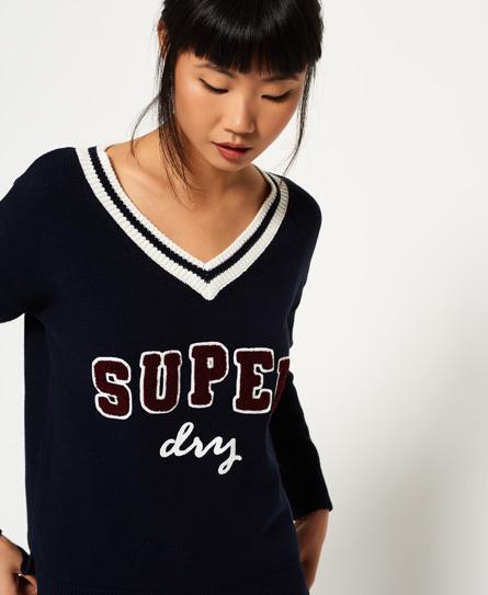 Superdry Superdry Super Logo Vee striktrøje