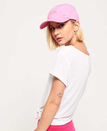 Superdry Orange Label Soft Touch-caps 1SIZE female  Rosa