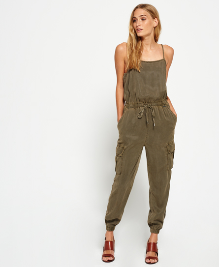 Superdry Cargo Casual Jumpsuit  Green