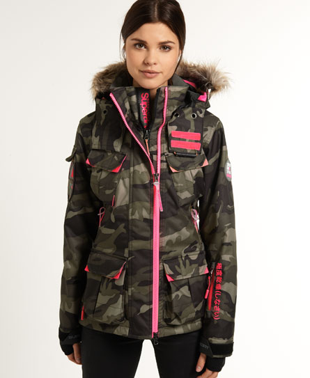 womens ultimate snow jacket in camo superdry. Black Bedroom Furniture Sets. Home Design Ideas