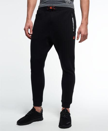 black Superdry Gym Tech Slim Sweatpants
