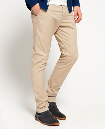 city beige Superdry Pantaloni slim fit in cotone City