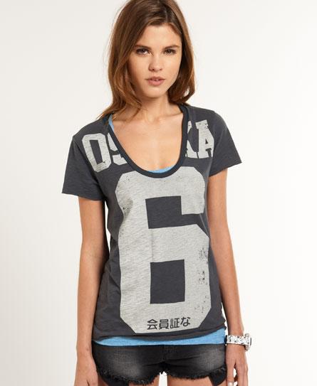 Superdry Osaka Big 6 T-shirt Dark Grey