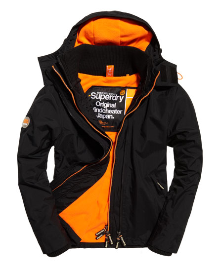 nero/arancione fluo Superdry Giacca a vento Pop Zip Hooded Arctic.