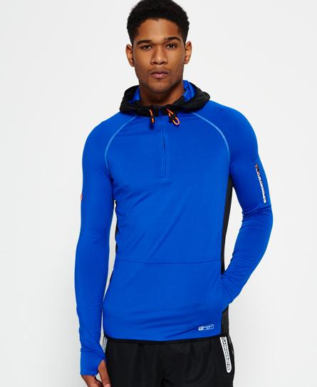 Superdry Sports Athletic Kapuzenpulli mit halblangem Reißverschluss