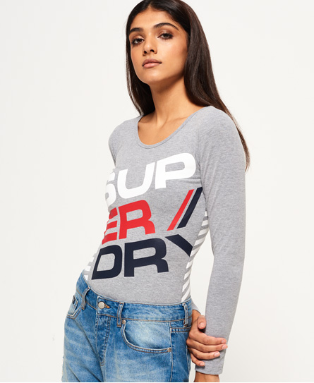 superdry body diagonal sportswear tops pour femme. Black Bedroom Furniture Sets. Home Design Ideas