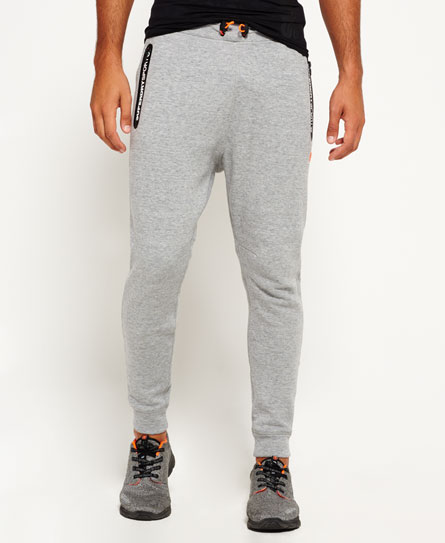 grau gesprenkelt Superdry Gym Tech Slim Jogginghose