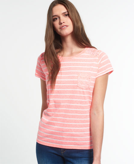 Superdry Superdry Super Sewn Stripe Pocket T-shirt