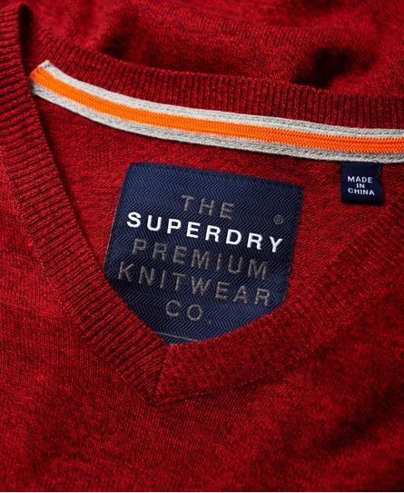 Superdry Pull à col en V Orange Label