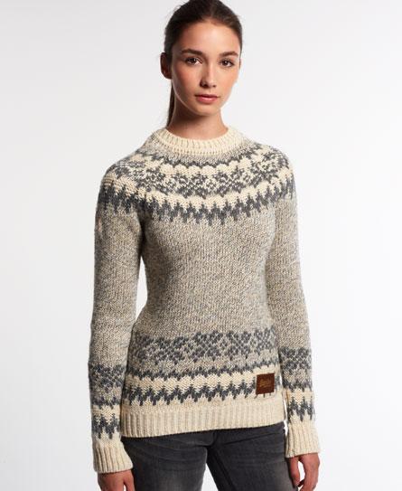 superdry pull courcheval knit maille pour femme. Black Bedroom Furniture Sets. Home Design Ideas