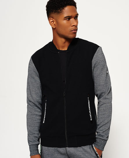 Gym Tech Embossed Bomber Jacket