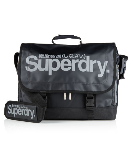 black/reflective Superdry Super Pop Tarp Laptop Bag