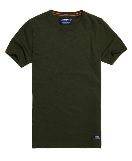 dry khaki Superdry Originals Longline T-shirt
