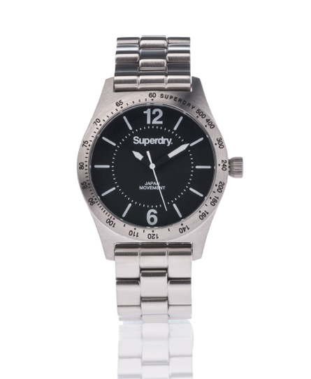 Superdry Infantry Steel Watch Black