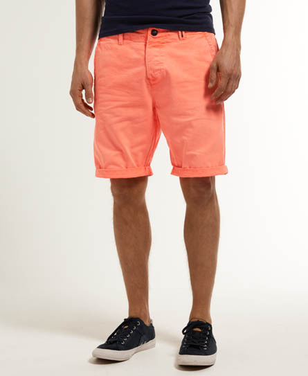 Mens - Overdye Chino Shorts in Bright Red | Superdry