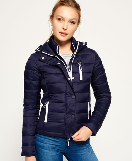 Hooded Fuji Slim Double Zip Jacket