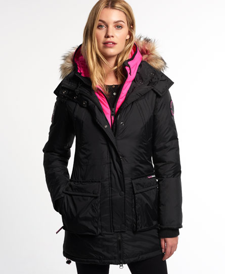 Superdry Cazadora Arctic Black Ice Edition Down Negro