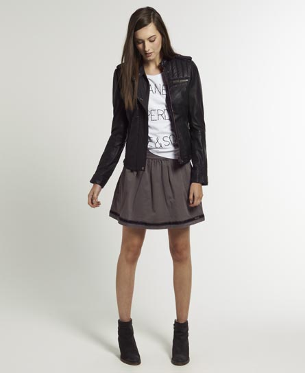 Superdry Preppy Circle Skirt Grey