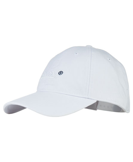 Superdry Orange Label Solo Cap White