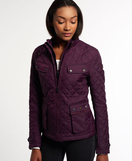 Womens - Apex Quilted Jacket in Maroon | Superdry