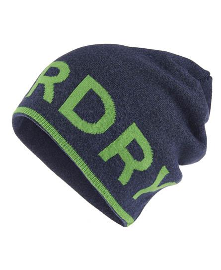 Superdry Reverse Logo Beanie Blue